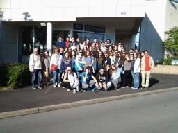 Έξω απο το Reception building του CERN